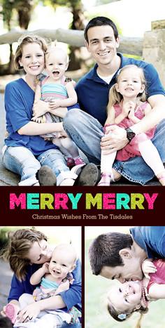Merry Merry 4x8 Flat Card