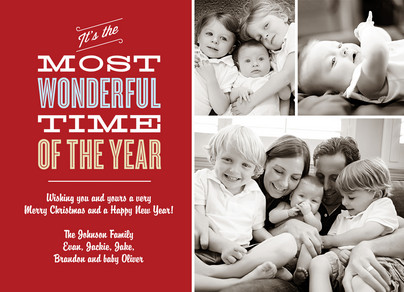Most Wonderful Time 7x5 Flat Card