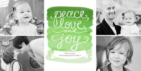 Painted Peace 8x4 Flat Card