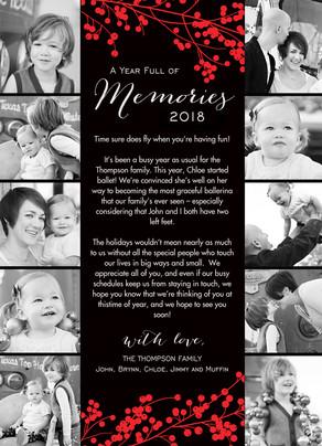 2016 Memories 5x7 Flat Card