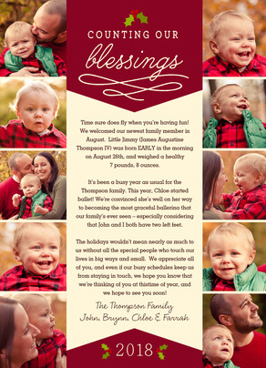 Counting Our Blessings 5x7 Flat Card
