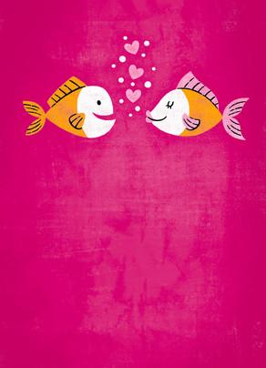 Fish Love 5x7 Folded Card