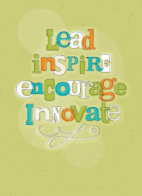 Lead Inspire 5x7 Folded Card