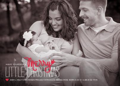 Merry Little Christmas 7x5 Flat Card