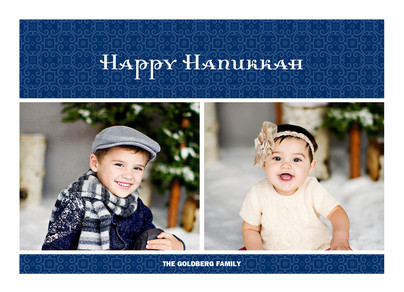 Navy Hanukkah 7x5 Flat Card