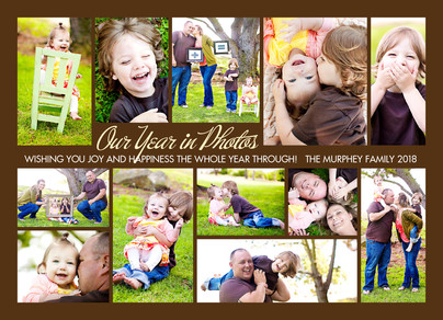 Chocolate Year in Photos 7x5 Flat Card