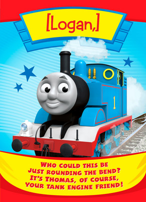 Thomas the Tank Engine Birthday Card 5x7 Folded Card
