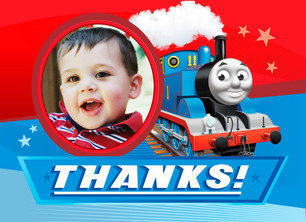 Thomas the Tank Engine Birthday Thanks 5.25x3.75 Folded Card