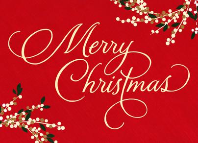 Classic Merry Christmas 7x5 Folded Card