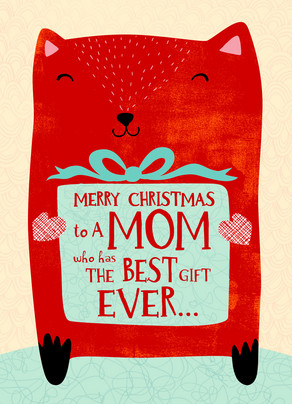 best christmas mom 5x7 folded card