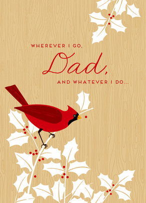 Red Dad Cardinal 5x7 Folded Card