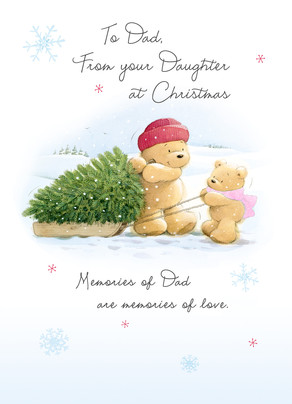 Dad Christmas Memories 5x7 Folded Card