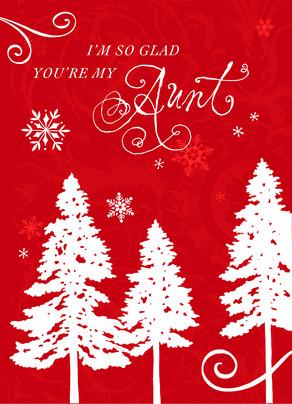 Glad Christmas Aunt 5x7 Folded Card