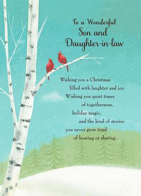 Wonderful Son Christmas 5x7 Folded Card