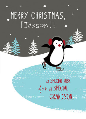 Special Grandson Wish 5x7 Folded Card