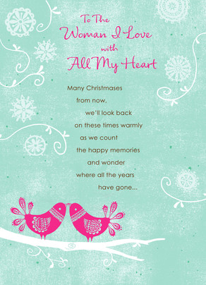 All Christmas Heart 5x7 Folded Card