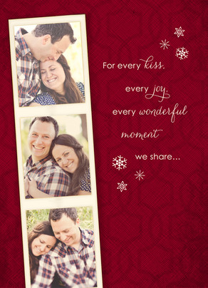 Every Christmas Kiss 5x7 Folded Card