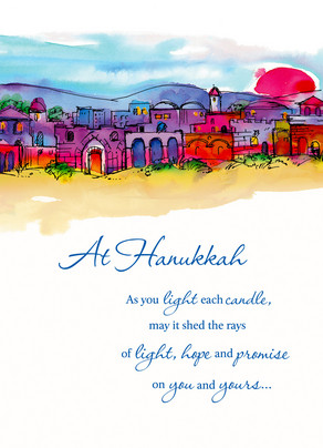 Hanukkah Candle Light 5x7 Folded Card