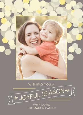 Joyful Season Sparkles 5x7 Flat Card