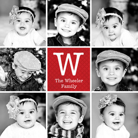Monogrammed Family Photos 4.75x4.75 Flat