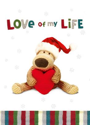 Love Christmas Life 5x7 Folded Card