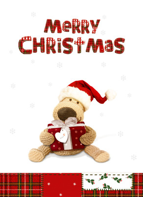 Stuffed Animal Christmas 5x7 Folded Card