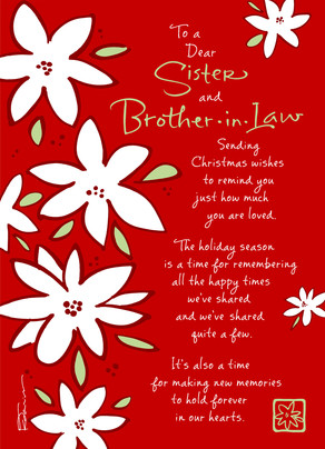 Christmas Flower Sister 5x7 Folded Card