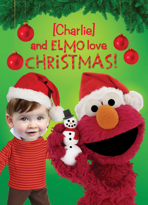 Elmo Loves Christmas 5x7 Folded Card