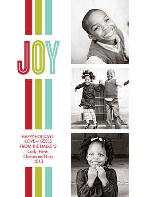Joy Stripes 5x7 Flat Card