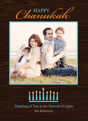 Chanunukah Menorah 5x7 Flat Card