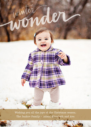 Simple Winter Wonder 5x7 Flat Card