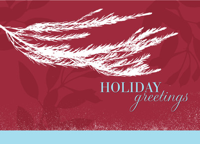 Tree Branch Holiday 7x5 Folded Card