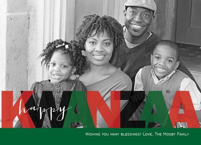 Happy Kwanzaa 7x5 Flat Card