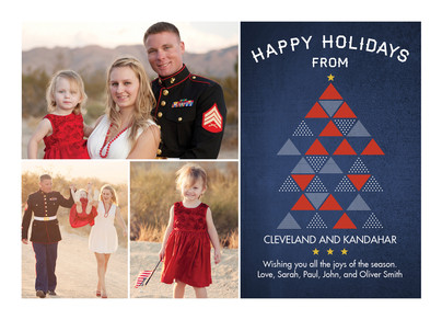 Modern Triangle Christmas 7x5 Flat Card