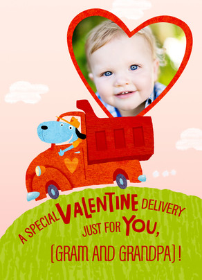 Special Valentine Delivery 5x7 Folded Card