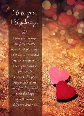 Perfect Valentine Fit 5x7 Folded Card