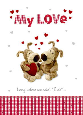 My Love 5x7 Folded Card