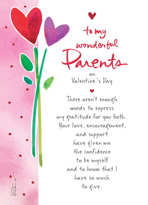 Wonderful Parents Valentine Valentines Day Card  Cardstore