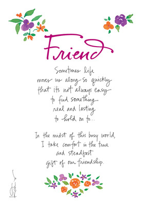 Comforting Friend 5x7 Folded Card