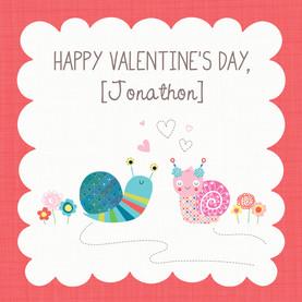 Snail Love 4.75x4.75 Folded Card