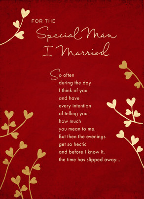 Special Married Man 5x7 Folded Card