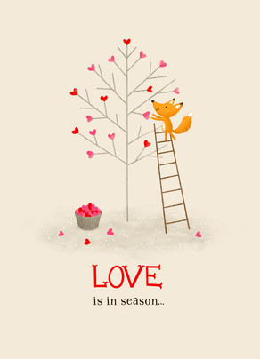 Love In Season 5x7 Folded Card