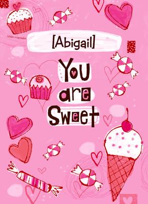 Sweet Valentine Candies 5x7 Folded Card
