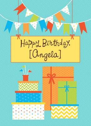 Birthday Flags 5x7 Folded Card