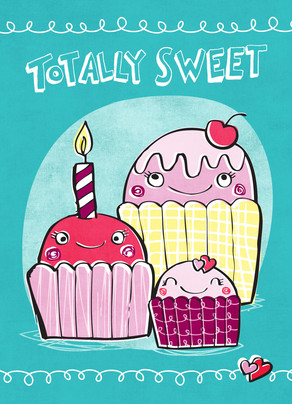 Totally Sweet 5x7 Folded Card