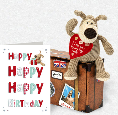 Boofle Happy Happy Happy Card and Plush 5x7 Folded Card