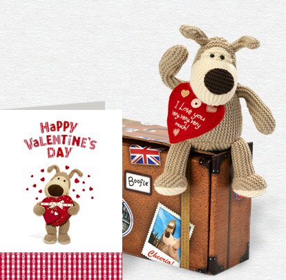 Valentine Chocolate Box Card and Plush 5x7 Folded Card