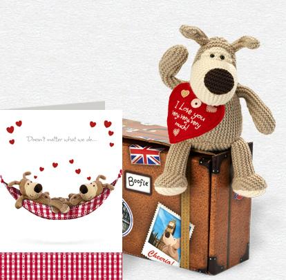 Boofle Love Hammock Card and Plush 5x7 Folded Card
