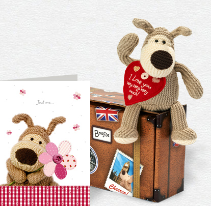 Boofle Just Me Flower Card and Plush 5x7 Folded Card