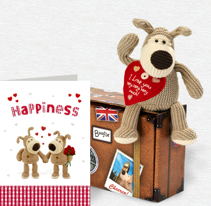 Boofle Love Happiness Card and Plush 5x7 Folded Card
